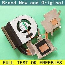 Новый вентилятор для ноутбука CPU с радиатором, Медный трубчатый модуль для LENOVO Ideapad G485 G480AM G580 G580AX G585 G480, кулер