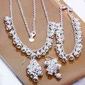 925 sistemas de la joyería, plata embotada corona polaca, collar de plata pulsera del pendiente del gancho S156