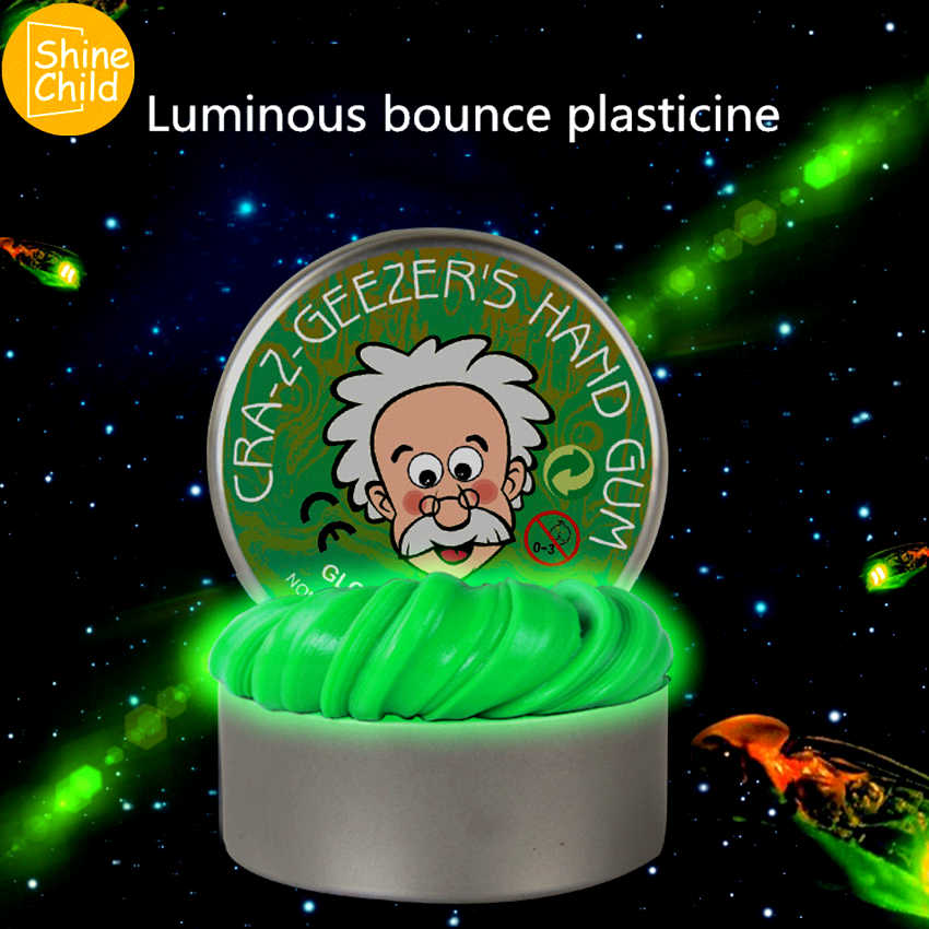 DIY Luminous Slime Modeling Clay Light Glow In The Dark Bouncing Mud Plasticine Playdough Education Novelty Creative Kids Toys