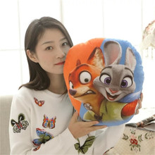 1pc 40cm Judy pillow Nick plush toy Zootopia Cartoon Animal Crazy City Movie Fox Rabbit stuffed cushion pillow kidz gift