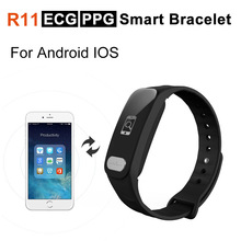 R11 ECG PPG Smart Bracelet Heart Rate Blood Pressure Monitor Sport Tracker For Android IOS xiaomi huawei iphone V8 X6 Smartwatch