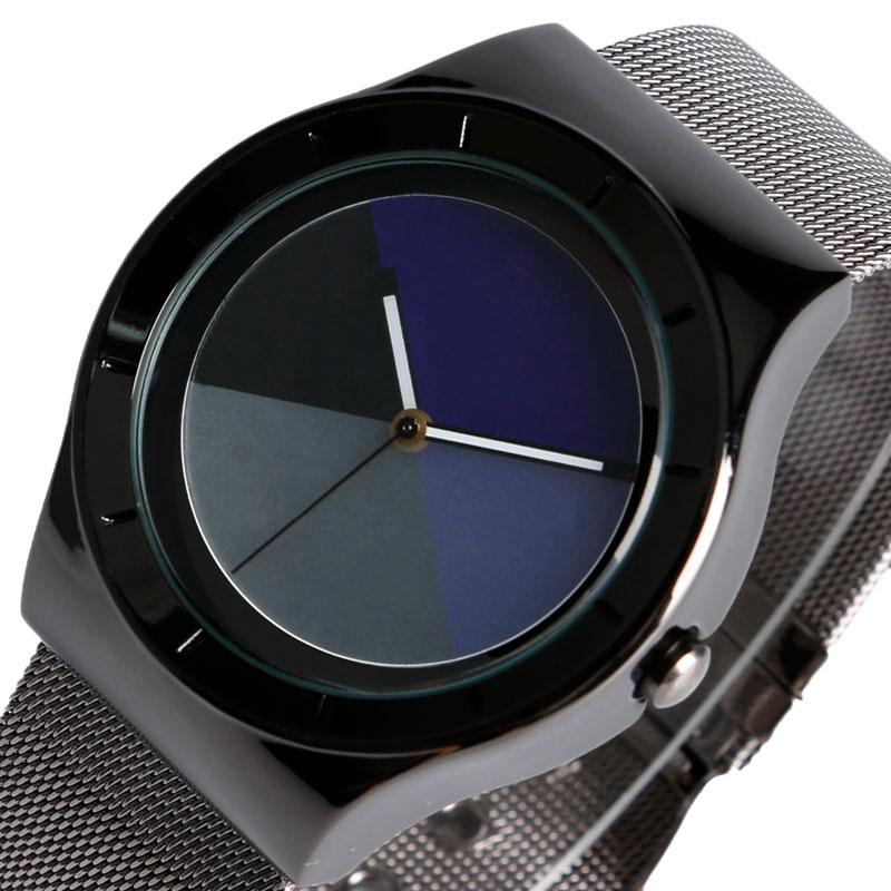 Top Brand PAIDU Creative Unique Analog Dial Wrist Watch Women Steel Mesh Band Wristwatches Men Business Colock Relojes Montre стоимость
