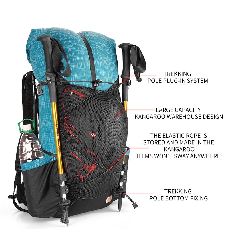 mochila leve pacote de acampamento viagem montanhismo