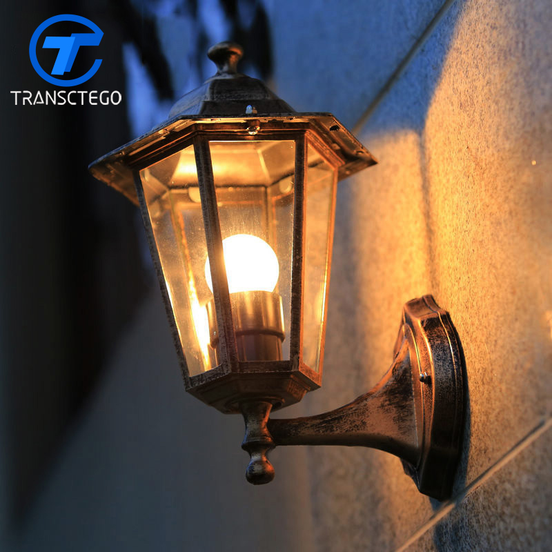 Style Wall Lamp Outdoor Lights Villa Balcony Garden Lamps