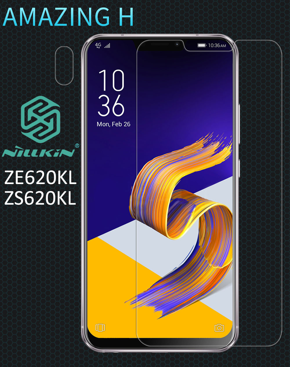 Nillkin Amazing H Tempered Glass For Asus Zenfone 5 ZE620KL Zenfone 5z ZS620KL oleophobic Protective
