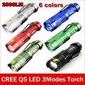 CREE тактический фонарик Q5 мощный светодиодный фонарик linternas luzes свет факела zaklamp taschenlampe torcia мини lanterna 14500