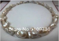Jewelry 0019578 HUGE 1820 26MM AUSTRALIAN SOUTH SEA GENUINE WHITE BAROQUE PEARL NECKLACE