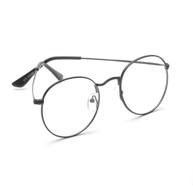 Online Shop Retro Mens Myopia Frames Metal High Quality Fashion ...