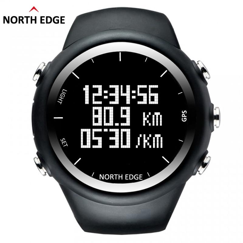 NorthEdge GPS Watch Digital Hour Men Digital Sport Watch Smart Pace Speed Calorie Running Jogging Triathlon Hiking Waterproof smart baby watch q60s детские часы с gps голубые