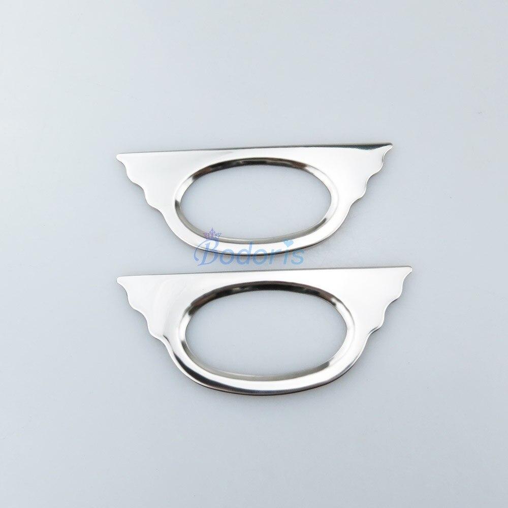 #304 Rvs Side Lamp Cover Trim 2 Stks Detector Auto Styling Voor Peugeot 206 207 307 Citroen C2 Accessoires Nieuwste Technologie