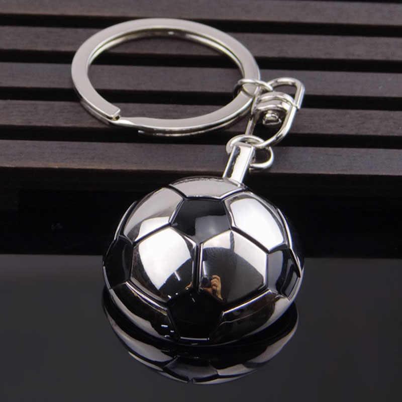 Novos Esportes Da Forma metal Keychain Chave Do Carro Anel Chave Da Cadeia de Futebol Basquete bola de Golfe Chaveiro Pingente Para atacado