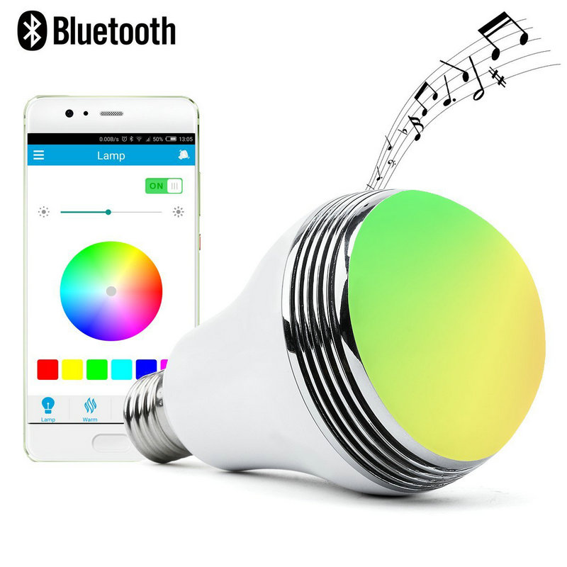 Artpad Smart Wireless Bluetooth Light Bulb E27/E26 Dimmable APP Control Multi-Color RGB LED Bulb with Timer and Music Player
