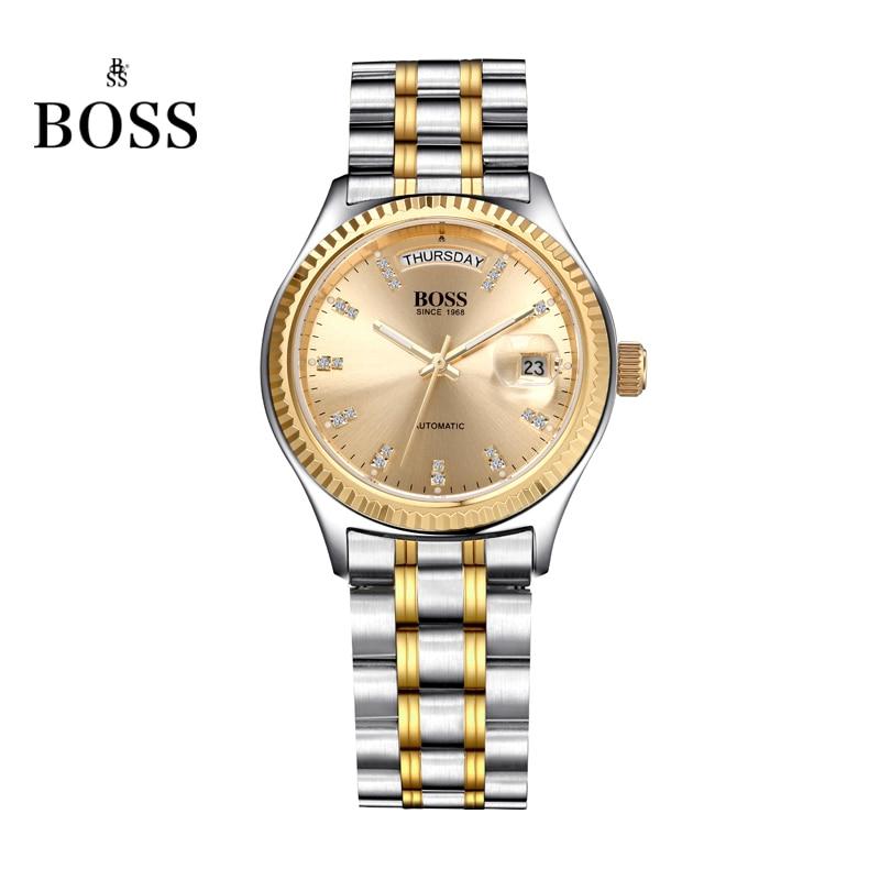 BOSS Germany watches font b men b font luxury brand daydate series automatic self wind mechanical