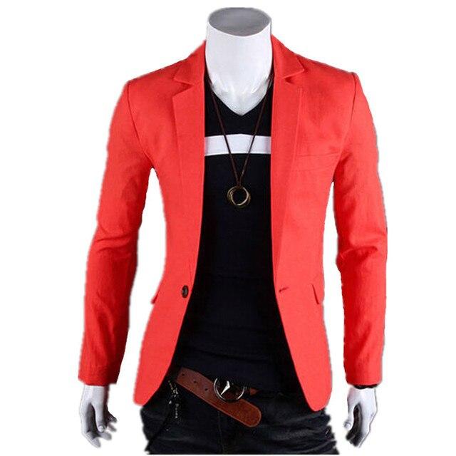 Nuevo 2017 hombres de color puro de la moda cuerpo delgado traje de vestido de traje de chaqueta de ocio chaqueta de la capa delgada para el envío libre