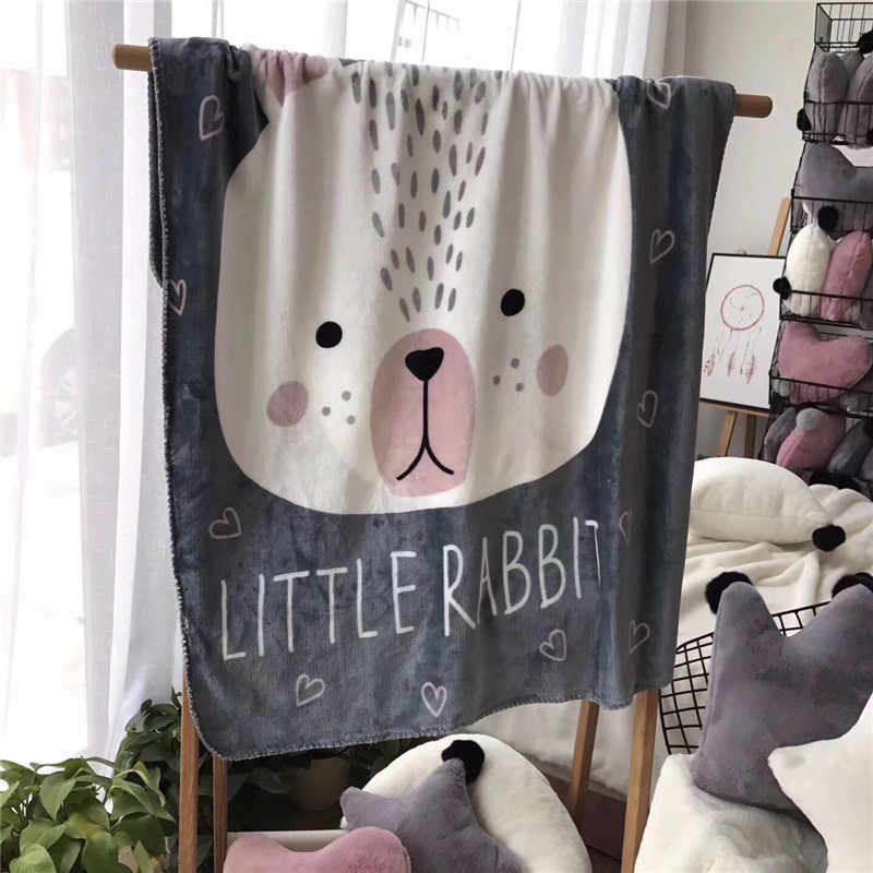 Baby Blanket Kids Soft Infant Envelope Fleece Swaddling Lovely Rabbit Fox Bear Blankets Baby Stroller Bedding Cover Blanket Bebe