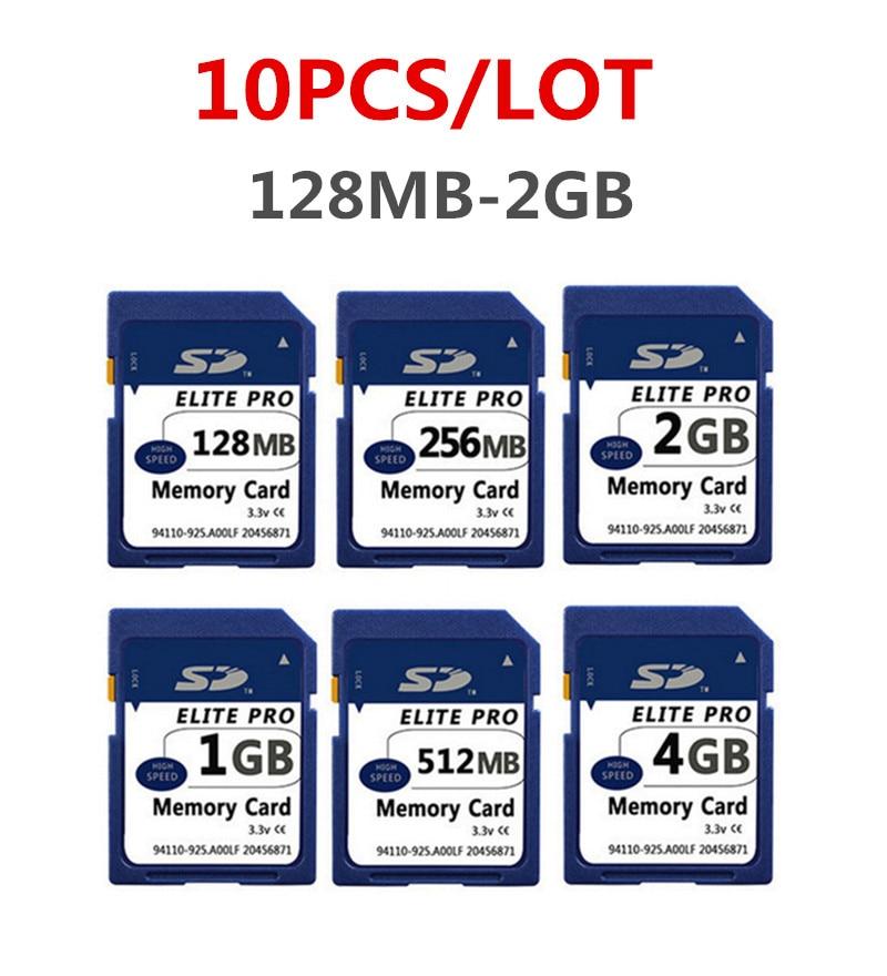 10 X 128MB 256MB 512MB 1GB 2GB 4GB SD Card SD Memory Card Secure Digital Flash Memory Card,Original SD Card