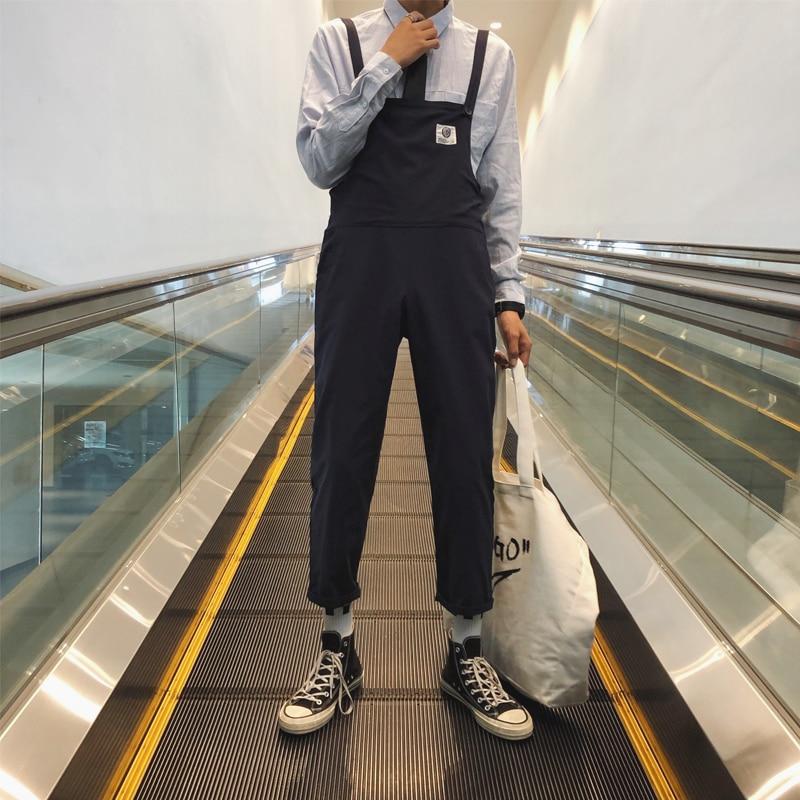 Flight Tracker Mode Japanischen Hipster Stil Overalls Paar Der Cropped Neun-punkt Bib Casual Wilden Student Overalls Paar Jogginghose Vertrieb Von QualitäTssicherung