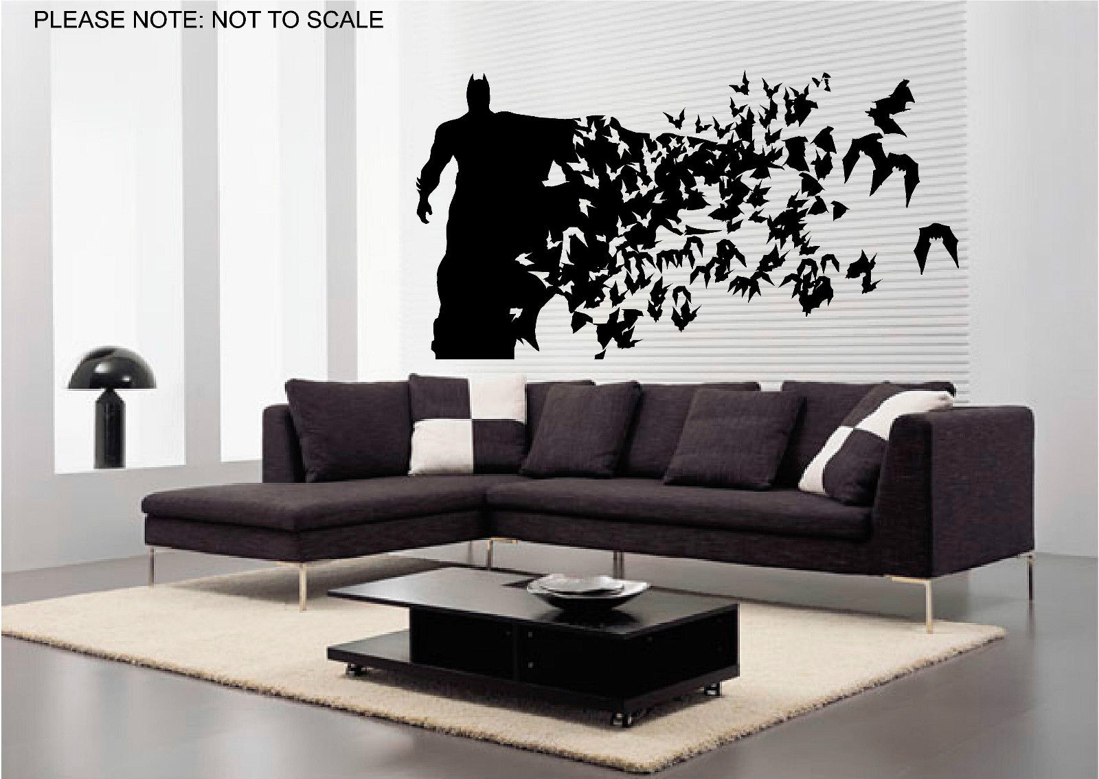 G323 Batman Wall Stickers Wall Art Decal Sticker