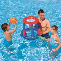 Inflatable Basketball Hoop Toy For Baby Kids Family Play Water Fun Outdoor Play Games Toy Floating Water Pool Beach Toys