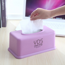 Plastic Tissue Box Cover Creative Paper Storage Home Car Napkins Holder Case Pink/Blue/Purple Organizer Decoration Tools