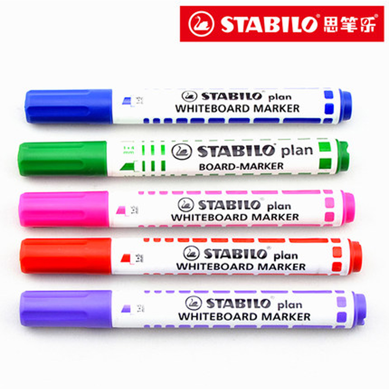 6 pcs stabilo 641 colorido quadro branco caneta marcador promocao canetas escola artigos de papelaria artigos