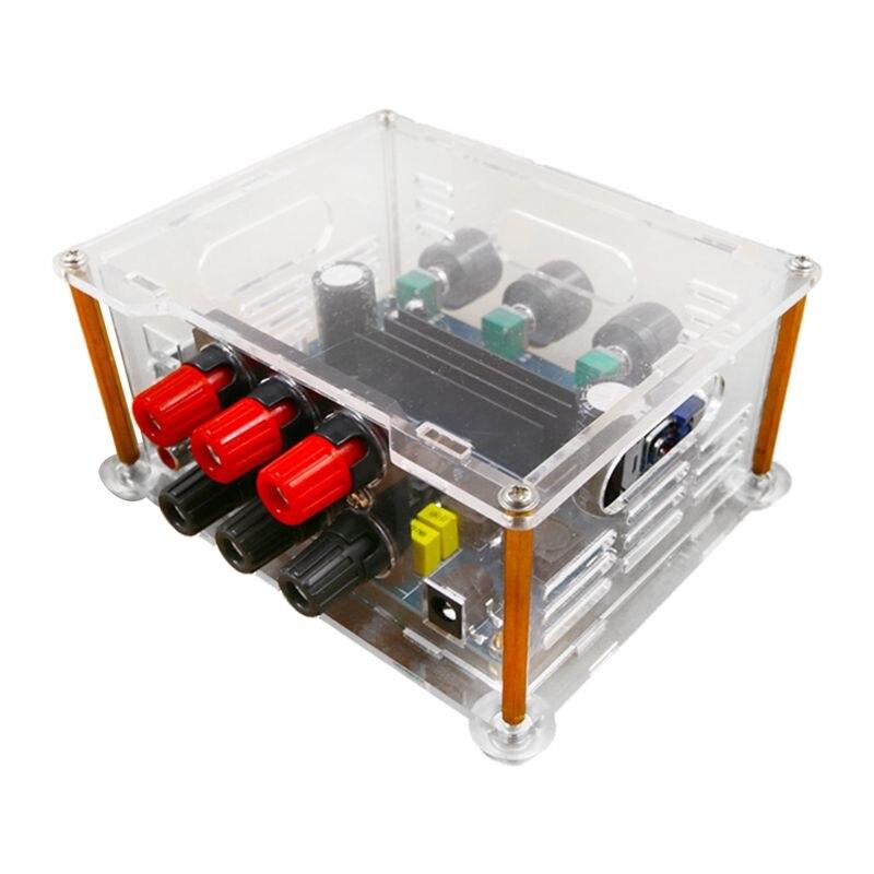 Digital Audio Amplifier TPA3116D2 2x50W+100W 2.1 HIFI Digital Stereo Subwoofer Audio Amplifier with Transparent case