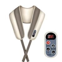 Smart Control Cervical Shoulder Taping Knocking Kneading Shiatsu Massage Massager Belt Heating Vibrating Neck Therapy Care