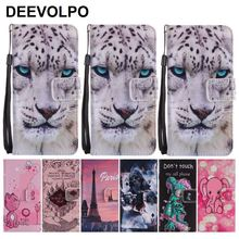 Card Slot Frame Phone Bags For Samsung A9 A8 A7 A6 Plus J8 J7 Duo J6 J4 Prime J3 2018 US J2 Core Leather Covers Skull Cat DP06Z