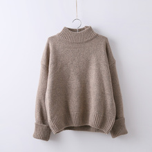 New 2016 Autumn Winter Sweater Knitwear Lady Casual Women Thicken Long Sleeve Solid Pullover Outwear Plus Size C560