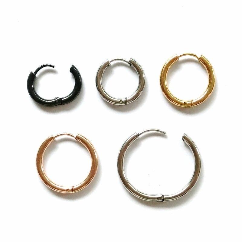 Ohrringe Aoedej Hoop Ohrringe Gold Farbe Edelstahl Kleine Hoop Ohrringe Für Frauen Männer Punk Kreis Ohrringe Clip Auf Kreolische Femme