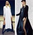 Mujeres Sexy Casaul Loose Alta Dividir Dos Side Vestido de Cóctel blusa Tops