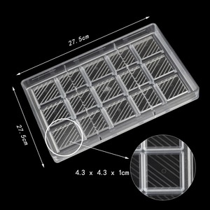 Image 2 - DIY Square diagonal stripes candy bar Polycarbonate chocolate mold Confectionery tools for decorating cakes  baking pastry tools