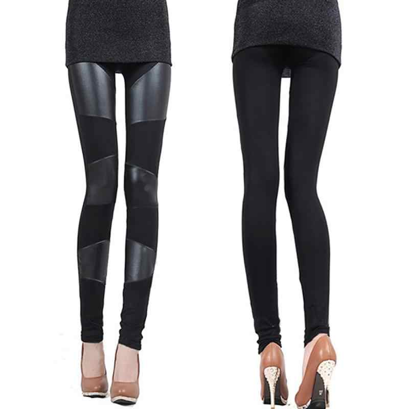 09af30a8 ... New Autumn winter Women clothing skinny PU leather pencil Leggings slim  faux Leather Pants female fashion ...