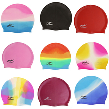 Горячая многоцветная силикон для взрослых плавающий ming cap частицы Антистатические волосы защита волос спорт плавательный бассейн эластичные шапочки