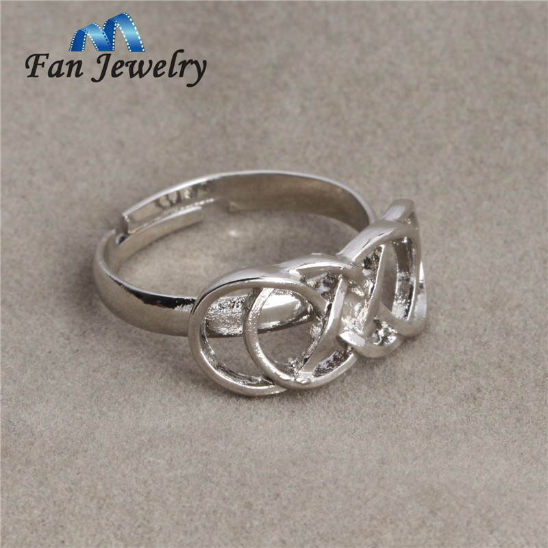 statement rose ring double gold infinity women pin