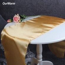 OurWarm 30x275 см атласные настольные дорожки современные скатерти для свадьбы, свадьбы, банкета, отеля, дома, вечерние украшения стола