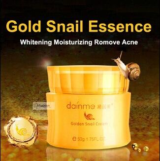 24 К золото улитка суть крем 50 г женщины сталкиваются отбеливания против морщин против старения увлажняющий и увлажняющий кремы для лица maquiagem