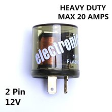 12 V Industries chrome Electronic Turn Signal Flasher Relay, LED Compatible,Handles up to 20 Amps