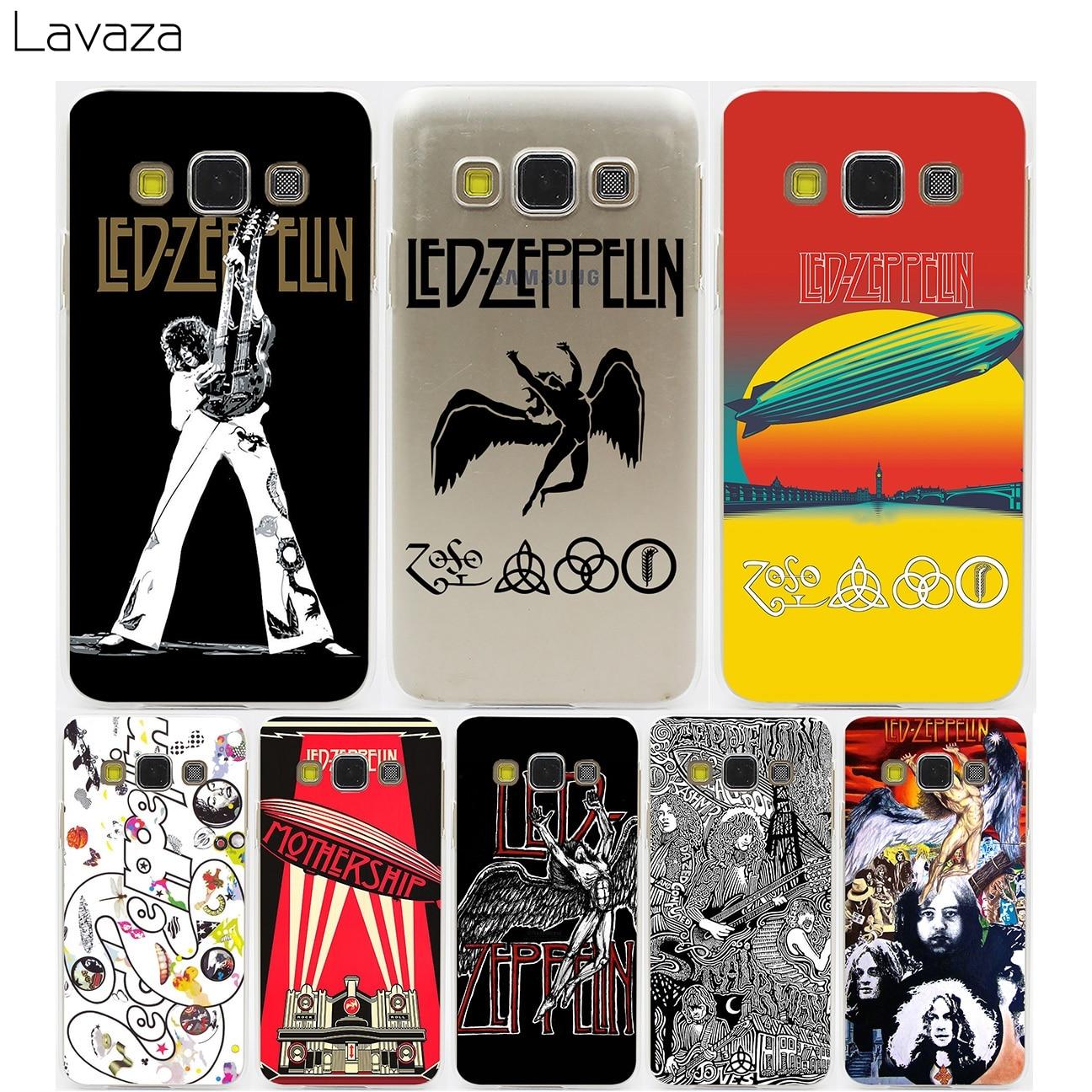 Lavaza <font><b>Led</b></font> Zeppelin Hard Transparent Case for Samsung Galaxy S3 S4 S5 &#038; Mini S6 <font><b>S7</b></font> S8 <font><b>Edge</b></font> Plus