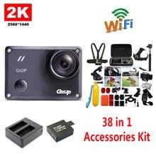 Бесплатная Доставка! gitup GIT2P 2 К Wi-Fi Камера 30fps 1080 P Спорт действий Cam + дополнительная 1 шт. Батарея + Батарея Зарядное устройство + 38 шт. Аксессуары комплект