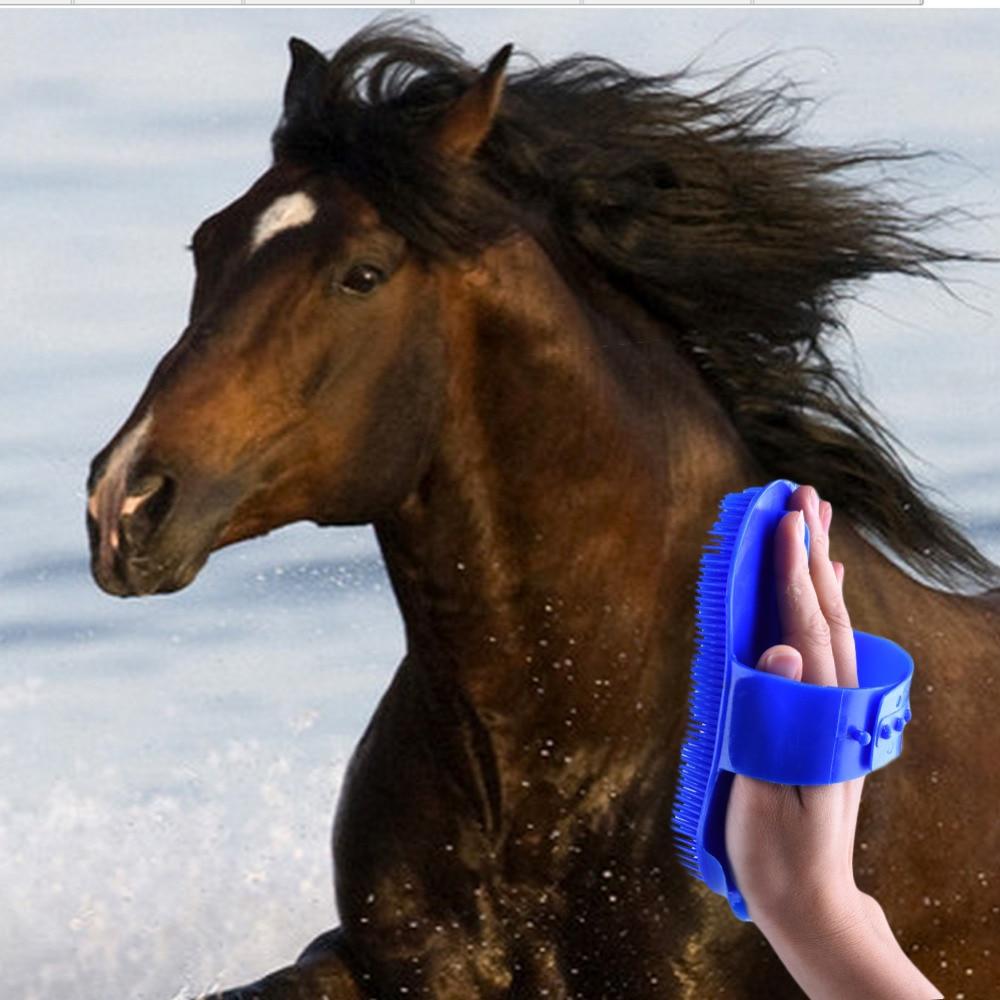 New arrival Horse Massage Brush Promotion Cheap Plastic Brush Horse Hair Bristles Shoe Polish Buffing Massage Care Clean Wax
