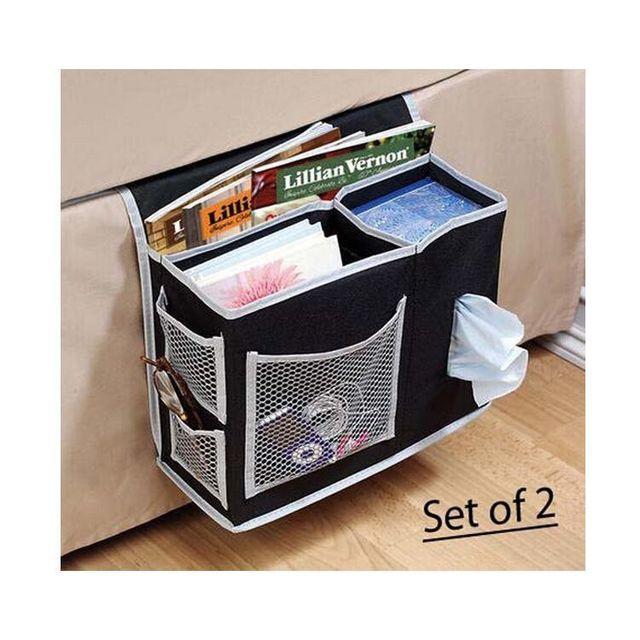 Bedside Storage Bag Hang Sundries ,Magazines, Phone,Tissue Holder Sofa  Organizer Book TV