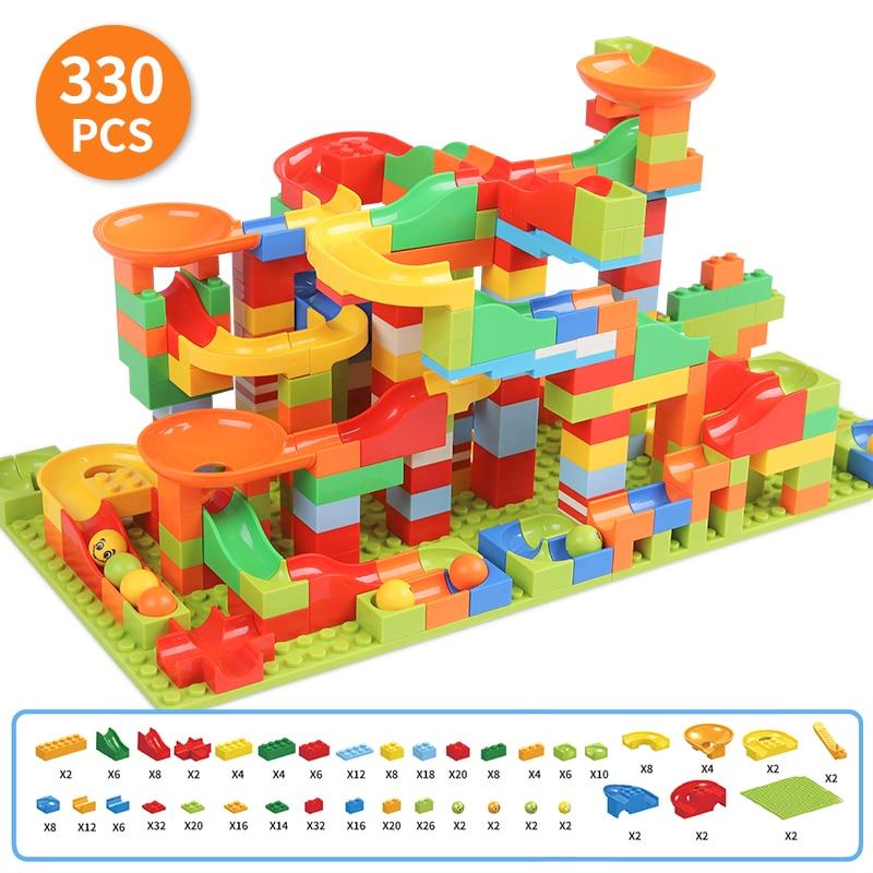 Brick-Sets Construction-Toys-Set STEM Marble Tale-Theme Race-Run Fairy Girls Educational