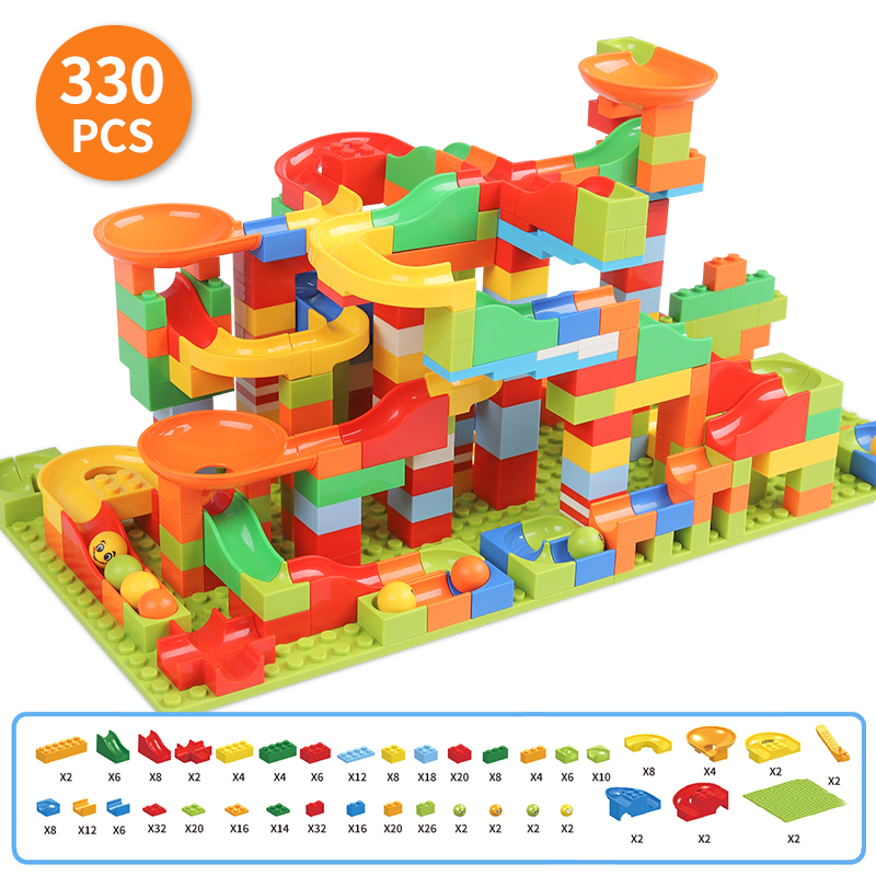 Marble Race Run Brick Sets Small Size STEM Learning Educational Construction Toys Set for Boys and Girls in Fairy Tale Theme|Blocks| |  - title=