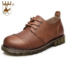100% Genuine Leather Men Casual Shoes Men Breathable Classic Oxfords Flats Spring Autumn Wedding Driving Shoes AA20553