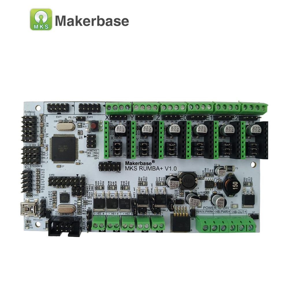 MKS Rumba Plus control plate Rumba-board integrated Rumbaplus motherboard mega 2560 R3 processor compatible MKS TFT display rumba plus motherboard 2560 r3 processor upgrade rumba control board with 6pcs tmc2100 drivers suitable for mks tft display
