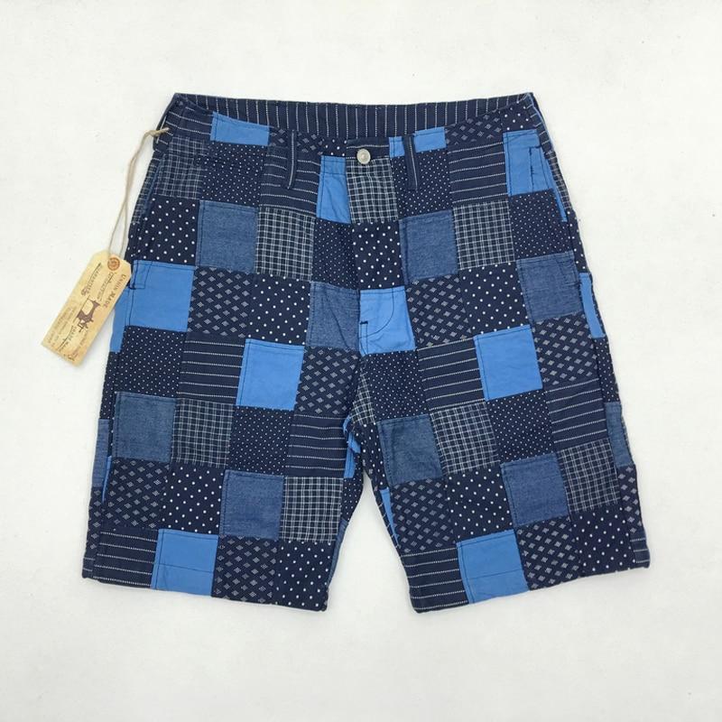 خمر Wabash خليط السراويل الصيف الرجال تقسم متقلب السراويل 10 oz سميكة سبعة الأقمشة مستقيم بنطال قصير للرجال-في سراويل قصيرة من ملابس الرجال على  مجموعة 1