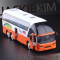 Conditioned Buses Car Metal Model Open Door w/light&sound Collectible Model Toys Classic Alloy Antique Car Model Free Shipping