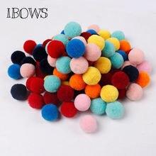 Помпоны для украшения дома 50 шт разные цвета маленькие помпоны