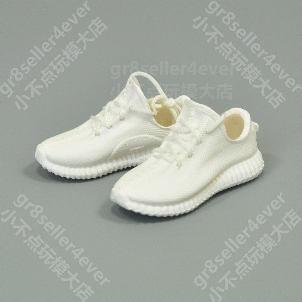 bas prix f4c05 766ea € 11.33  1/6 echelle femme blanc Yeezy 350 baskets bottes chaussures fit 12